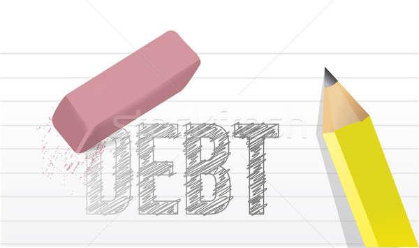Erase debts concept illustration design  Stock photo © alexmillos
