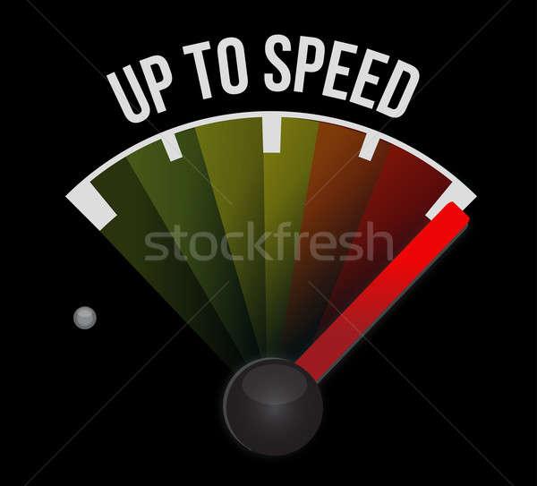Hasta velocidad negocios trabajo verde rojo Foto stock © alexmillos