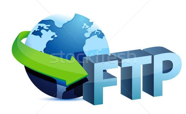 Ftp global ilustración diseno blanco mapa Foto stock © alexmillos