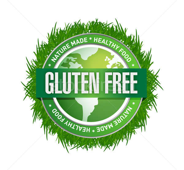 Gluten Free food label. illustration design  Stock photo © alexmillos