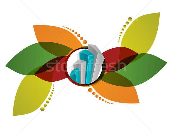 Floral gráfico de negocio bar financiar comercialización datos Foto stock © alexmillos