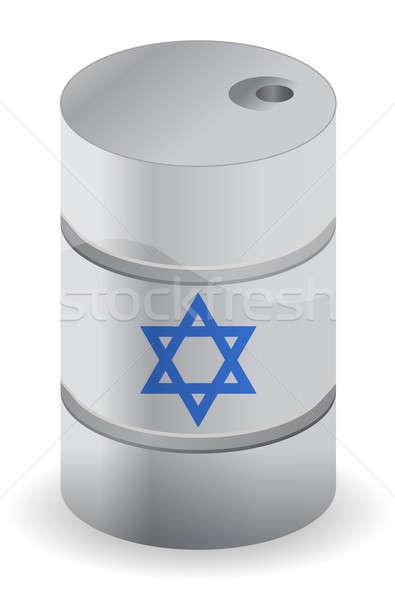 Israël olie vat ontwerp teken zwarte Stockfoto © alexmillos