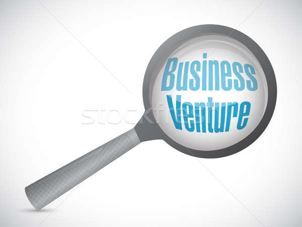 business venture magnify sign concept Stock photo © alexmillos
