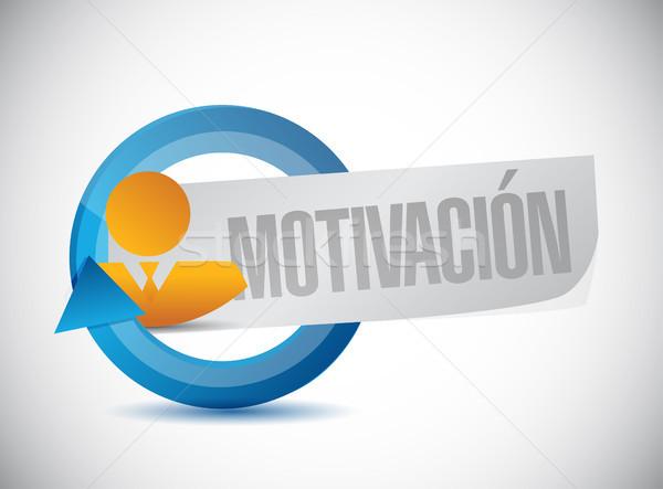Motivación avatar ciclo signo espanol ilustración Foto stock © alexmillos