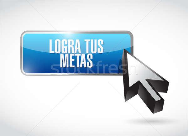 Przycisk podpisania hiszpanski ilustracja projektu Zdjęcia stock © alexmillos