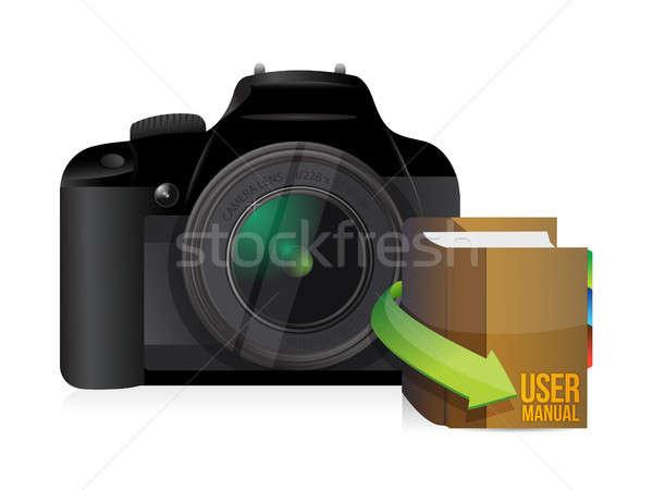 camera and user manual Stock photo © alexmillos
