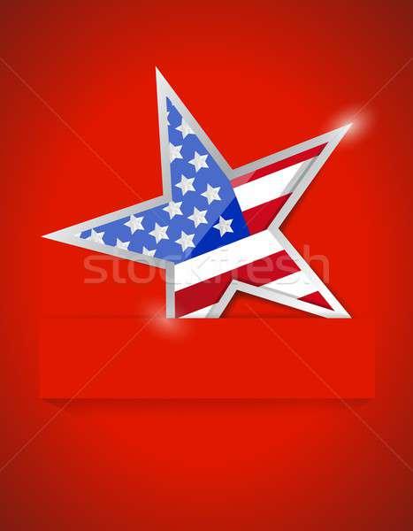 Americana star illustration design Stock photo © alexmillos