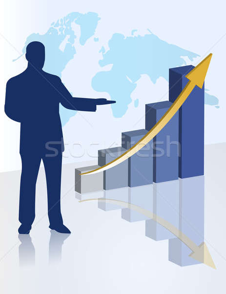 chart business presentation Stock photo © alexmillos