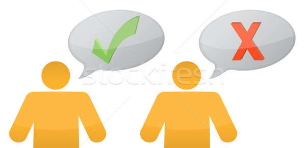 positive and negative messages illustration design Stock photo © alexmillos