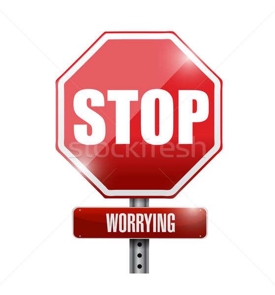 Stop znak drogowy ilustracja projektu biały burzy Zdjęcia stock © alexmillos