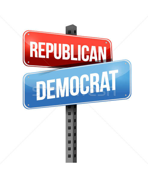 republican, democrat illustration design over a white background Stock photo © alexmillos