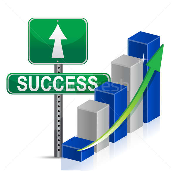 Stock photo: success sign Business illustration design over a white backgroun