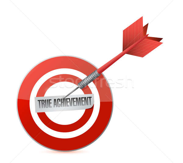 true achievement target dart illustration design over a white ba Stock photo © alexmillos