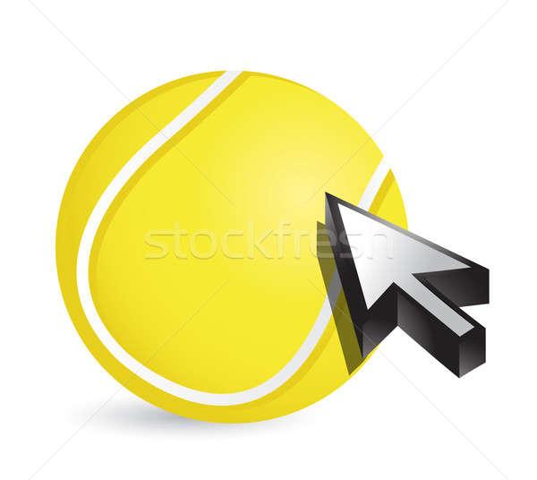 Bola de tênis cursor seta esportes compras ilustração Foto stock © alexmillos