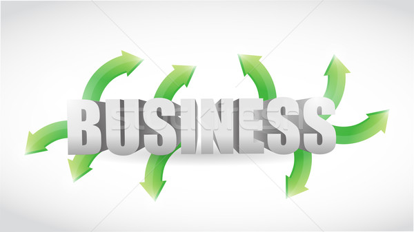 Business ways. concept illustration design  Stock photo © alexmillos
