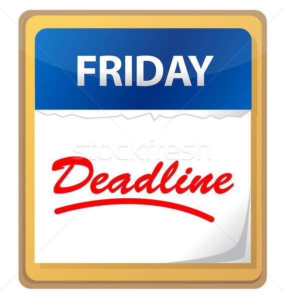 Prazo de entrega calendário ilustração projeto negócio filme Foto stock © alexmillos
