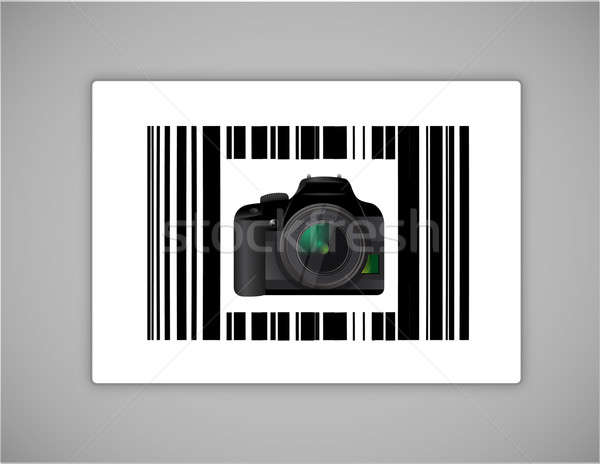 camera bar ups code illustration design over a white background Stock photo © alexmillos