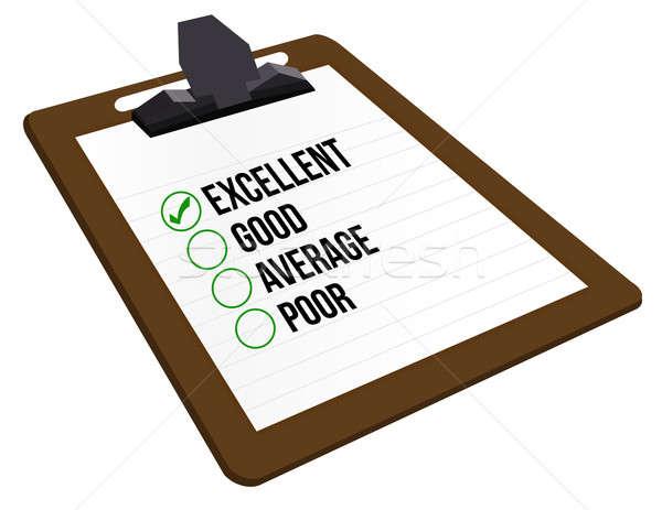 отлично клиентов бумаги карандашом белый бедные Сток-фото © alexmillos