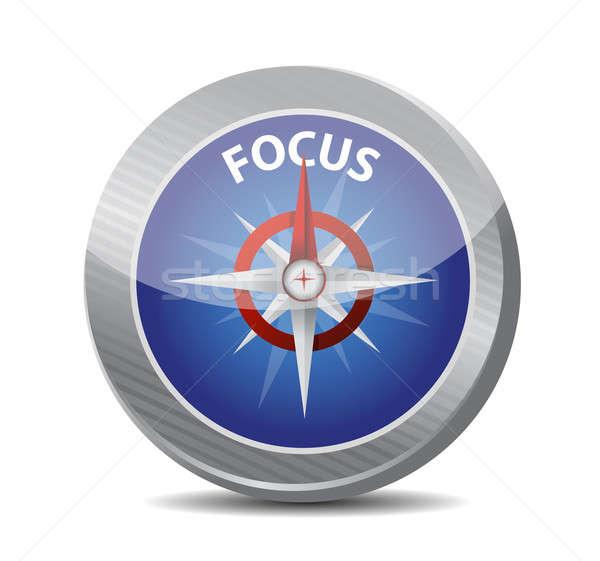 Focus bussola guidare illustrazione design futuro Foto d'archivio © alexmillos