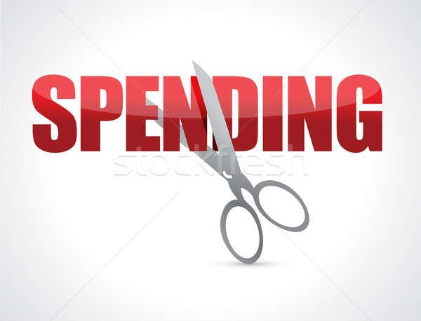 Cutting spending concept illustration  Stock photo © alexmillos