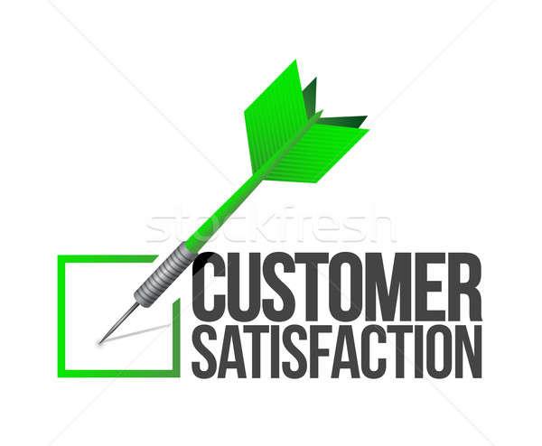 Stok fotoğraf: Hedef · iyi · müşteri · hizmetleri · örnek · iş · mavi