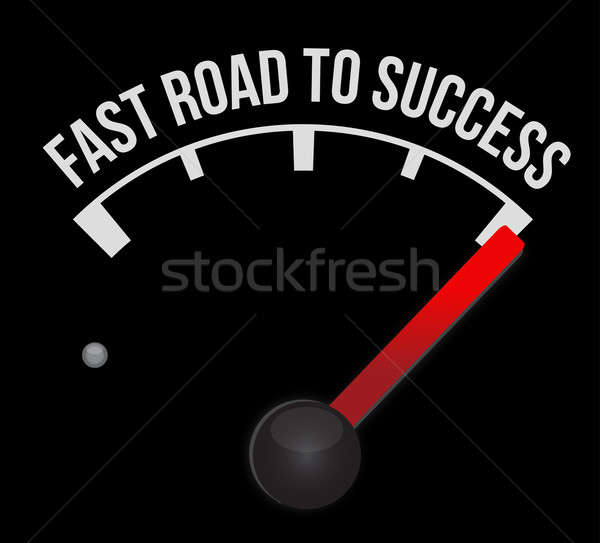 Speedometer scoring fast road to success Stock photo © alexmillos