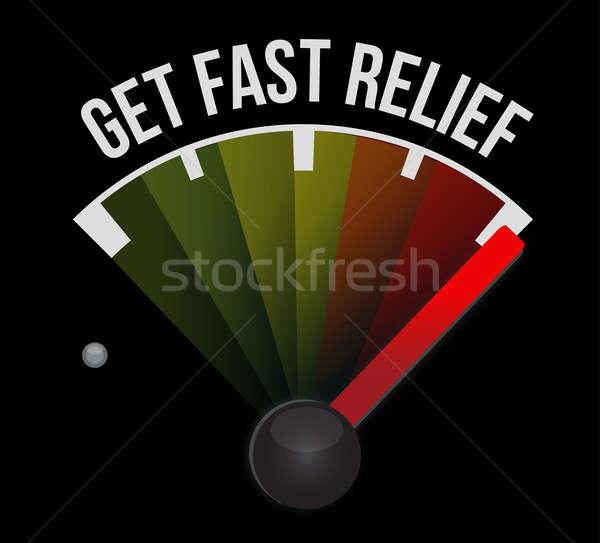 Szybko ulga prędkościomierza samochodu prędkości czarny Zdjęcia stock © alexmillos