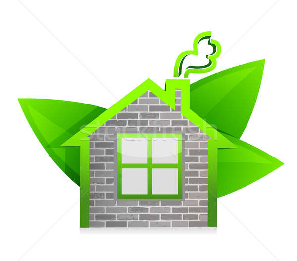 eco home illustration design over a white background design Stock photo © alexmillos