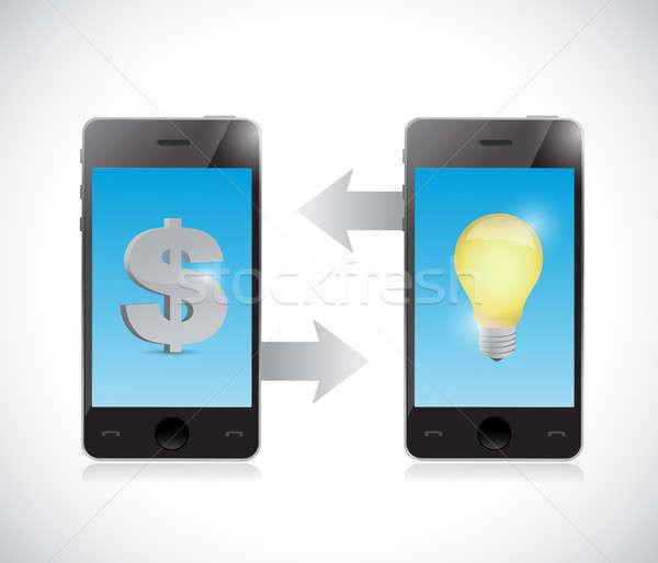 携帯 お金 アイデア 転送 実例 デザイン ストックフォト © alexmillos