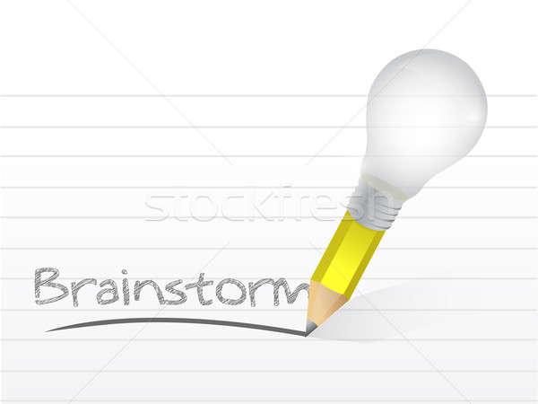 написанный Идея карандашом иллюстрация Сток-фото © alexmillos