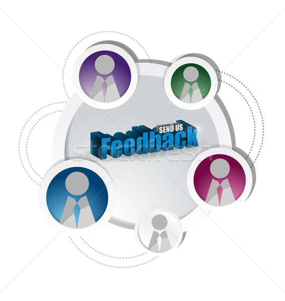 feedback and social media network diagram. Stock photo © alexmillos
