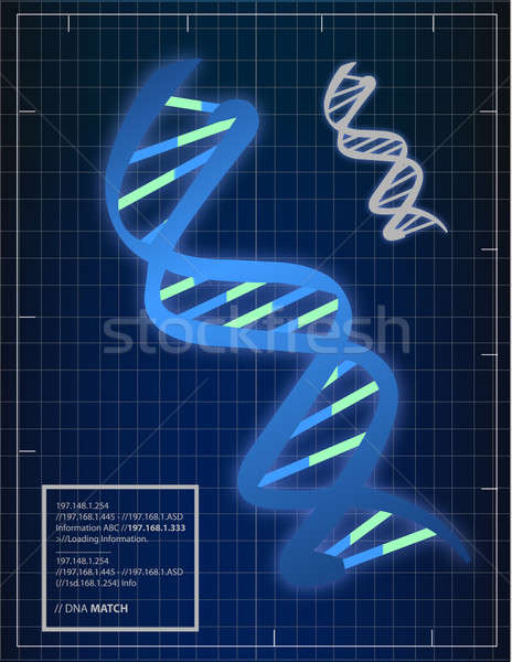 Illustration of DNA matching background Stock photo © alexmillos