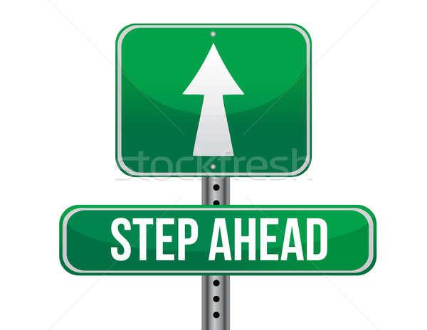 Step ahead road sign illustration design Stock photo © alexmillos