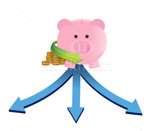 savings investment decision illustration design over a white bac Stock photo © alexmillos