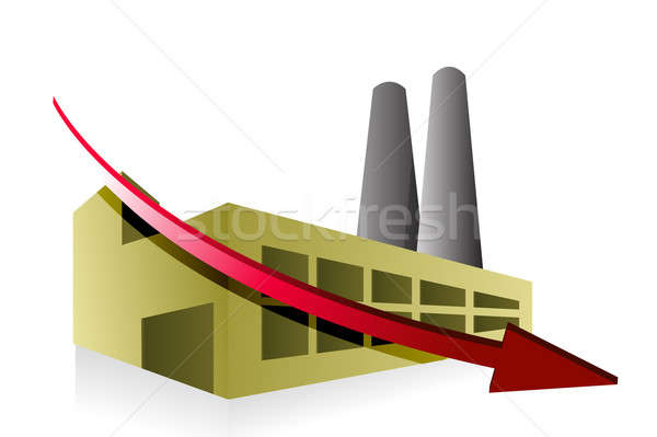 factory failing concept illustration design over white Stock photo © alexmillos