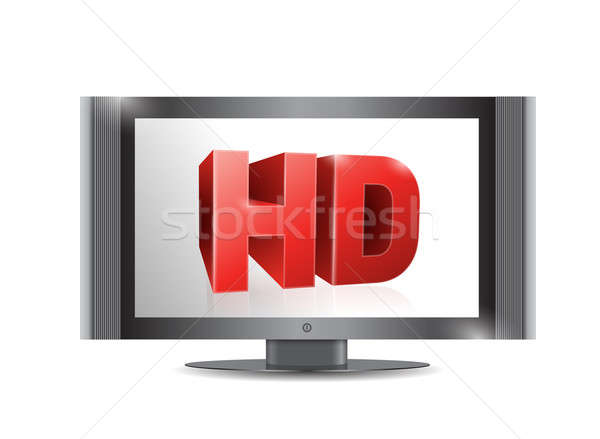 Tv screen. . with a hd screen. illustration design Stock photo © alexmillos