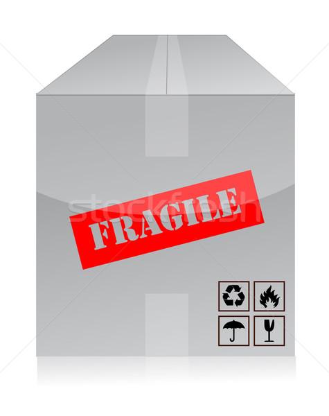 Fragile finestra carta design lettera società Foto d'archivio © alexmillos