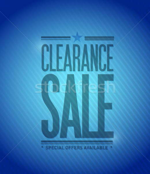 Clearance sale concept illustration design Stock photo © alexmillos