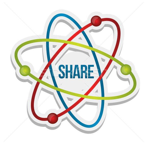 Share icon illustration Stock photo © alexmillos