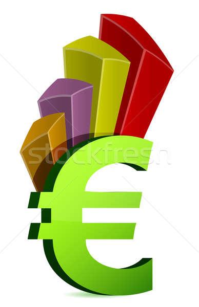Valuta üzleti grafikon szimbólum üzlet absztrakt felirat Stock fotó © alexmillos