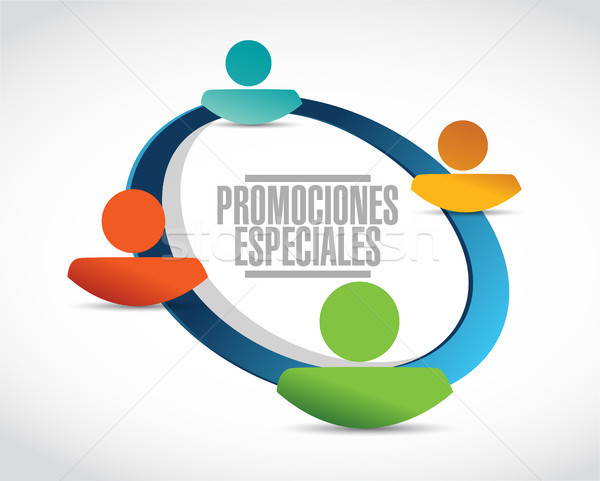 special promotions in Spanish network sign concept Stock photo © alexmillos