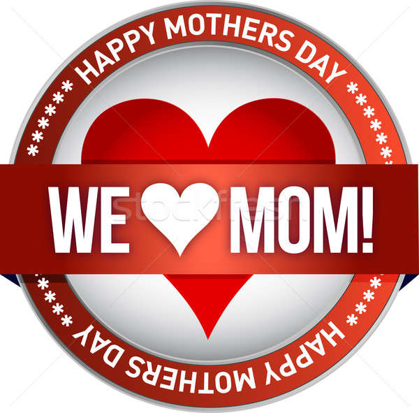 Happy mother s day rubber stamp seal illustration Stock photo © alexmillos