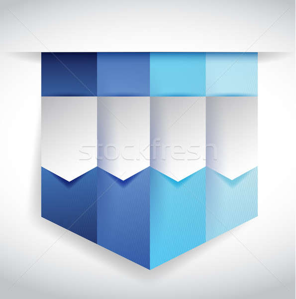 set of blue banners illustration design Stock photo © alexmillos