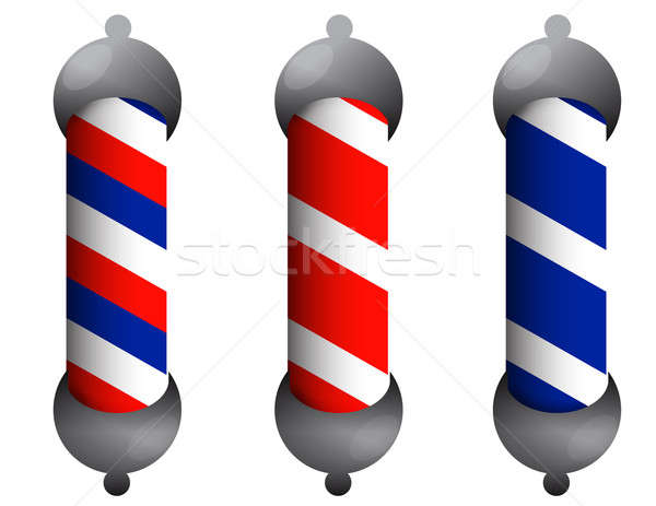 Barber pole Stock photo © alexmillos