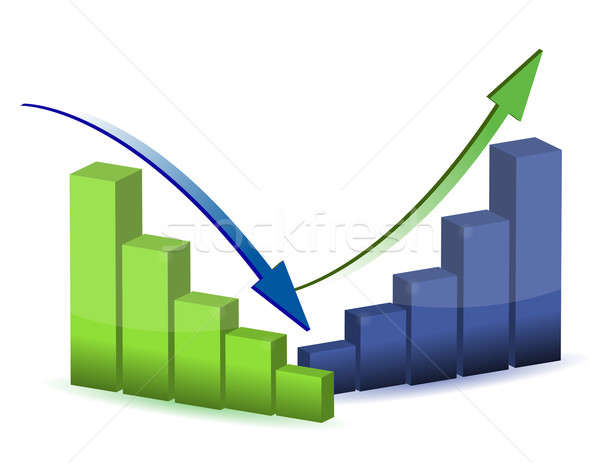 business graph, chart, diagram, bar, up, down Stock photo © alexmillos
