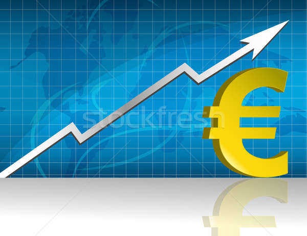 Euro currency trading graph. Stock photo © alexmillos