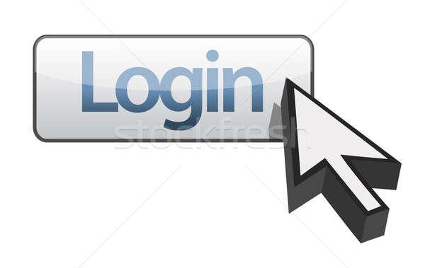 Bouton illustration design sécurité signe clé Photo stock © alexmillos