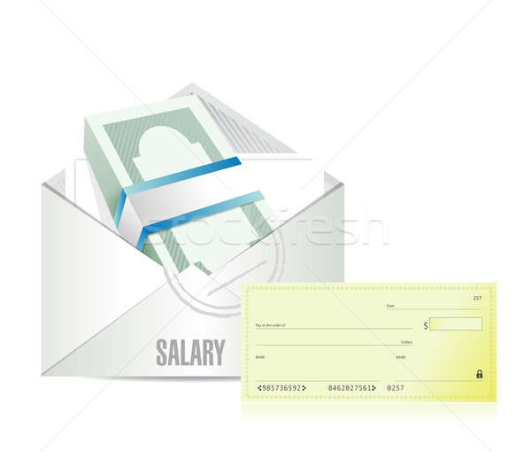 salary illustration design over a white background Stock photo © alexmillos