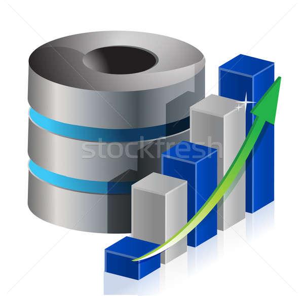 メタリック 統計値 データ アイコン 実例 デザイン ストックフォト © alexmillos