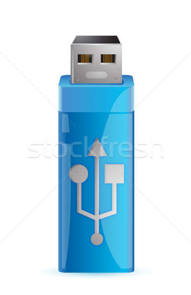 universal flash drive usb illustration design over a white backg Stock photo © alexmillos